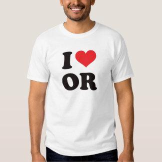I corazón O - Oregon Camisas