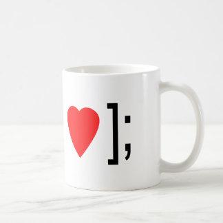 I corazón Obj-C Taza Básica Blanca