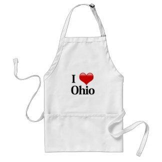 I corazón Ohio Delantales