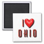I corazón Ohio Imán De Frigorifico