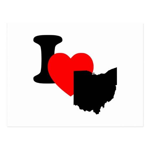 I corazón Ohio Postal