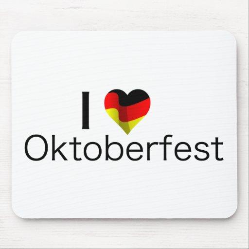 I corazón Oktoberfest Alfombrilla De Ratón