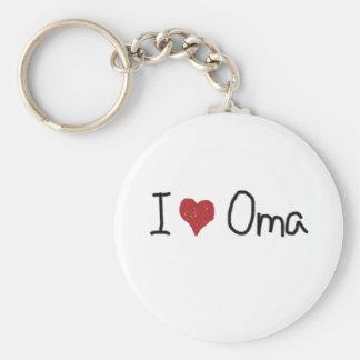 I corazón Oma Llaveros Personalizados