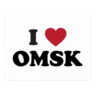 I corazón Omsk Rusia Tarjeta Postal
