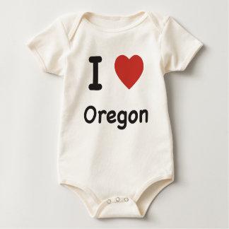 I corazón Oregon - camiseta del bebé Enteritos