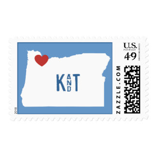 I corazón Oregon - sello adaptable de la ciudad