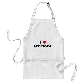 I corazón Ottawa Canadá Delantal