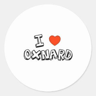 I corazón Oxnard Pegatina Redonda