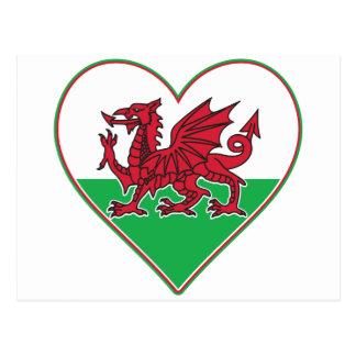 I corazón País de Gales Postales