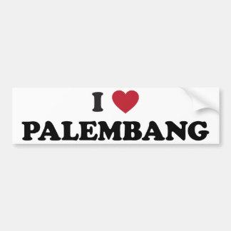 I corazón Palembang Indonesia Pegatina Para Auto