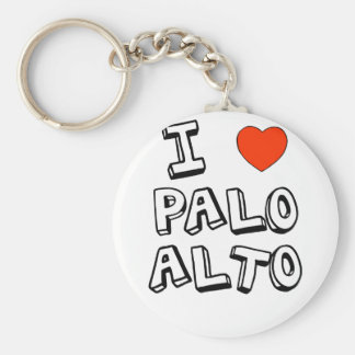 I corazón Palo Alto Llavero Redondo Tipo Pin