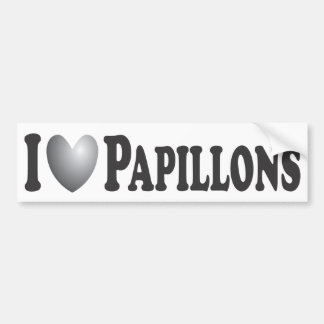 I corazón Papillons - pegatina para el parachoques Pegatina Para Auto