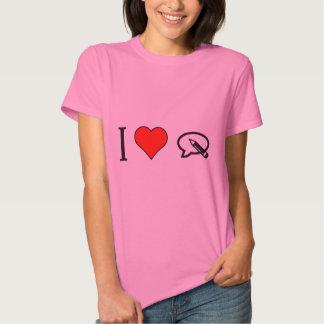 I corazón para escribir mi opinión camisas