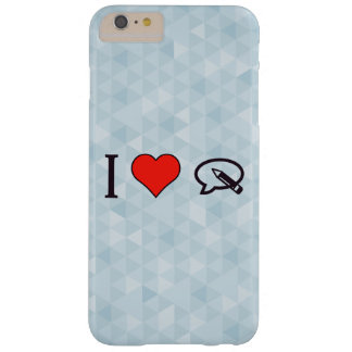 I corazón para escribir mi opinión funda para iPhone 6 plus barely there