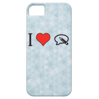 I corazón para escribir mi opinión iPhone 5 fundas