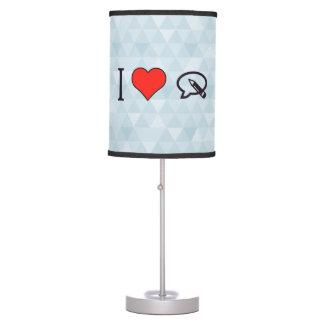 I corazón para escribir mi opinión lámpara de mesa
