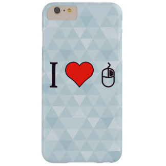 I corazón para utilizar un ratón funda de iPhone 6 plus barely there