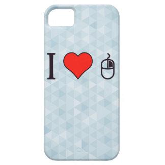 I corazón para utilizar un ratón iPhone 5 carcasas
