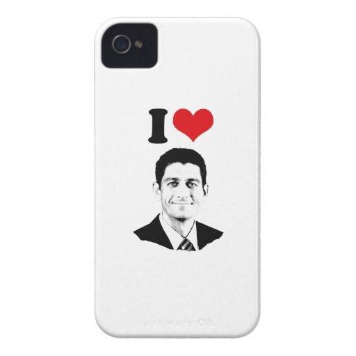 I CORAZÓN PAUL RYAN.png Case-Mate iPhone 4 Coberturas