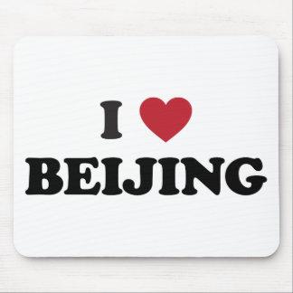 I corazón Pekín China Alfombrillas De Ratones