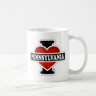 I corazón Pennsylvania Taza Clásica