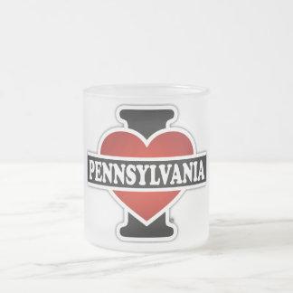 I corazón Pennsylvania Taza De Cristal
