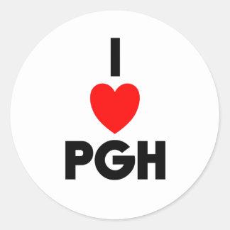 I corazón PGH Pegatina Redonda