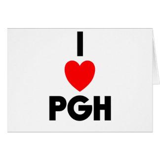 I corazón PGH Tarjeta De Felicitación