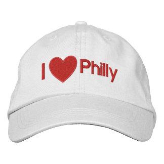 ¡I corazón Philly! ¡Amo Philly! Casquillo de Phila Gorro Bordado