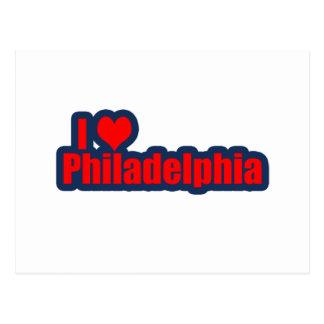 "I ""corazón"" Philly Tarjetas Postales"