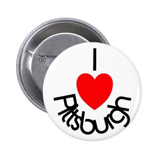 I corazón Pittsburgh Pin Redondo 5 Cm