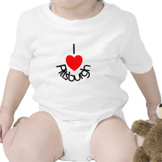 I corazón Pittsburgh Trajes De Bebé