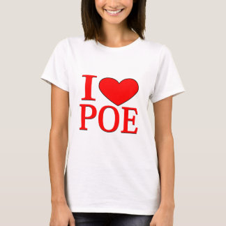 I corazón Poe Playera