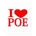 I corazón Poe Postal