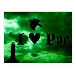 I corazón Poe Postales