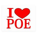 I corazón Poe Tarjetas Postales
