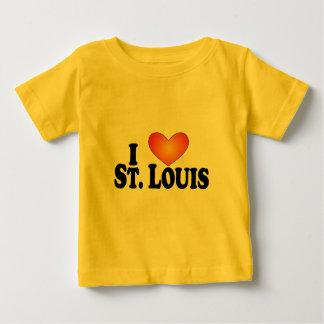 I (corazón) productos de St. Louis - de Lite Playera De Bebé