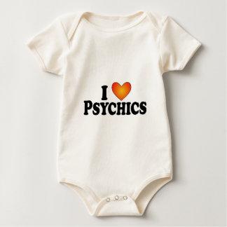 I (corazón) Psychics - camisetas de muchos Mamelucos De Bebé