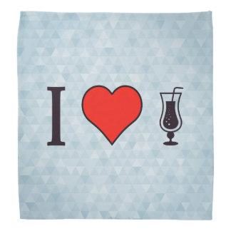 I corazón que bebe bebidas efervescentes bandana