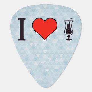 I corazón que bebe bebidas efervescentes plectro