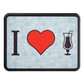 I corazón que bebe bebidas efervescentes tapa de remolque