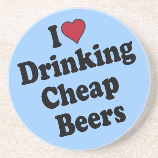 I corazón que bebe las cervezas baratas posavasos cerveza