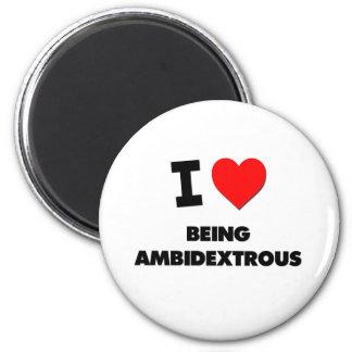 I corazón que es ambidextro iman de frigorífico