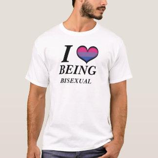 I corazón que es bisexual playera