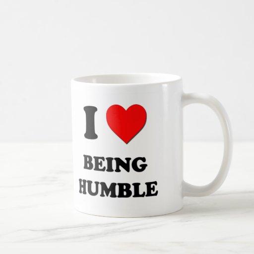 I corazón que es humilde tazas