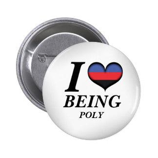 I corazón que es polivinílico pin redondo 5 cm