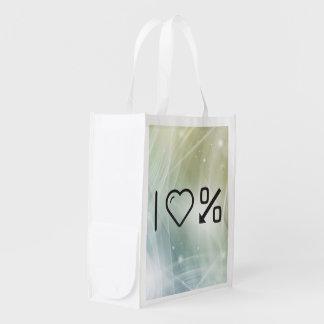 I corazón que invierte los dineros bolsas de la compra