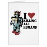 I corazón que mata a todos los seres humanos tarjeton
