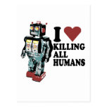 I corazón que mata a todos los seres humanos tarjeta postal