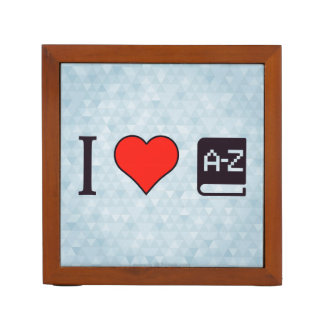I corazón que mejora mi lengua organizador de escritorio